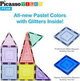 PicassoToys 48 Piece Glitter Magnetic Tile set - ECOBUNS BABY + CO.