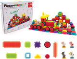 PicassoTiles Truck Theme Bristle Shape 151-Piece Building Set