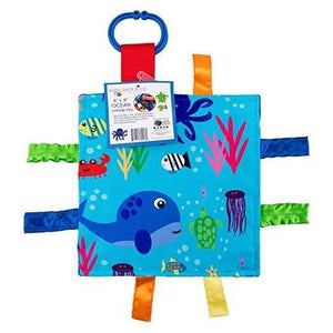 "Baby Jack and Company Crinkle Sensory Square 8""x8"" - Ocean"