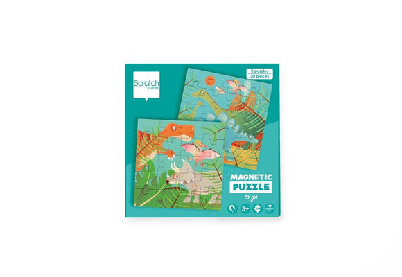 Scratch Europe - Magnetic Puzzle Book To Go Dinosaurs