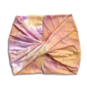 Crunchy Love Co. Twist Headband - Sherbert Tye Dye