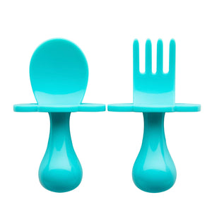 Teal My Heart - Toddler Fork & Spoon Set