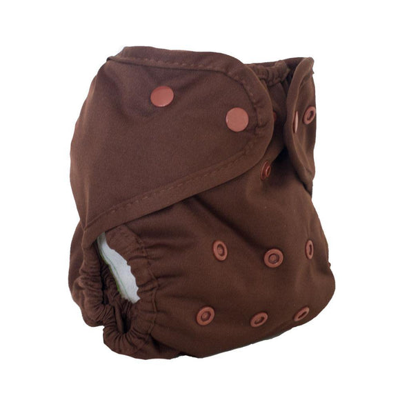 Buttons Diapers One Size Diaper Cover - Chocolate
