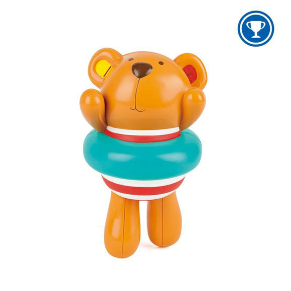 Hape Swimmer Teddy Wind-Up Toy - ECOBUNS BABY + CO.