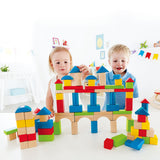 Hape Build Up and Away Block Set - 100 Pieces