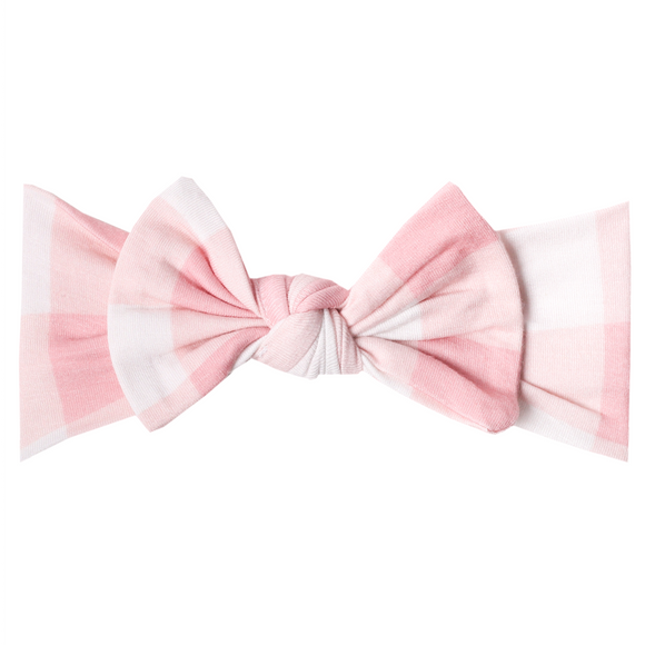 Copper Pearl Knit Bow Headband - London