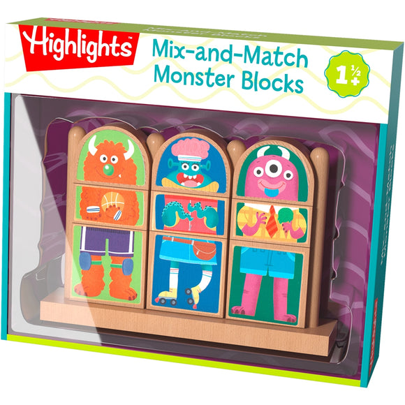 Highlights Mix-and-Match Monster Blocks