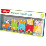 Highlights Number Train Wooden Puzzle