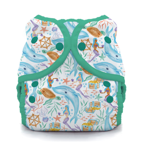 Thirsties Size Three Duo Wrap - Snaps - Mermaid Lagoon