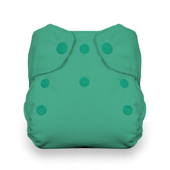 Thirsties Natural Newborn AIO - Snap - Seafoam - ECOBUNS BABY + CO.