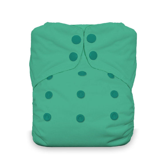 Thirsties Natural One Size AIO - Snaps - Seafoam - ECOBUNS BABY + CO.