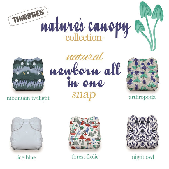 Thirsties Newborn AIO Bundle Snap - Nature's Canopy (5-14 LBS)