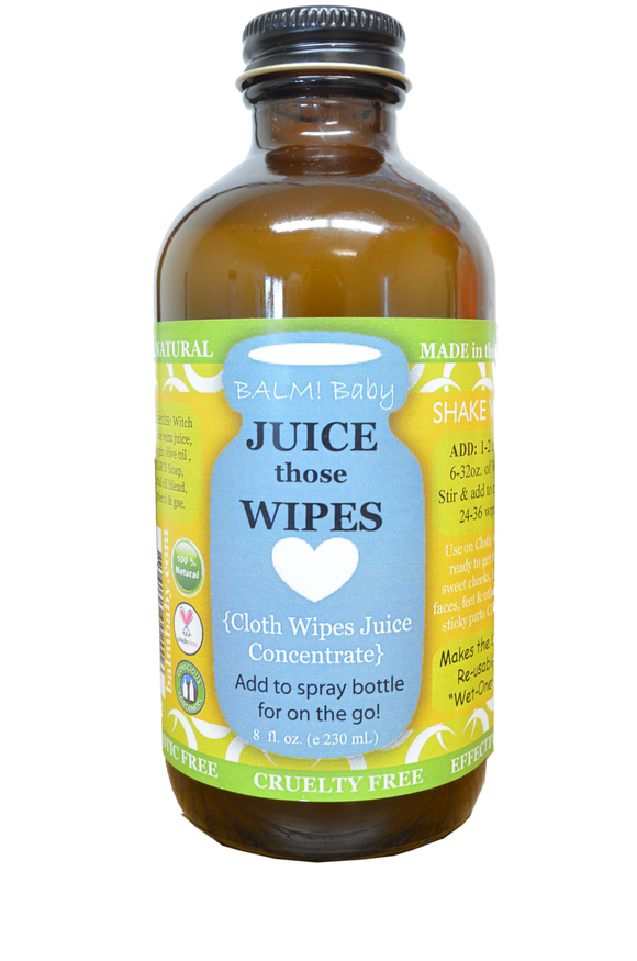BALM! Baby - Juice those Wipes Natural Wipes Concentrate - 8oz. - ECOBUNS BABY + CO.