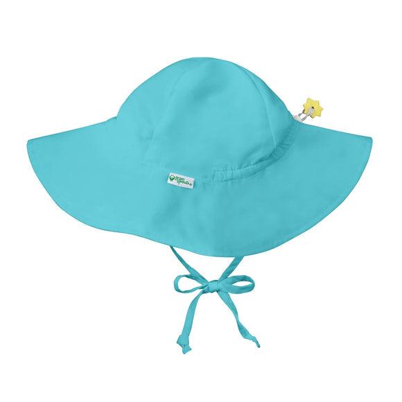 Green Sprouts - Brim Sun Protection Hat - Aqua