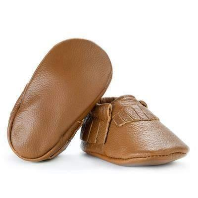 BirdRock Baby Classic Brown Genuine Leather Baby Moccasins - ECOBUNS BABY + CO.