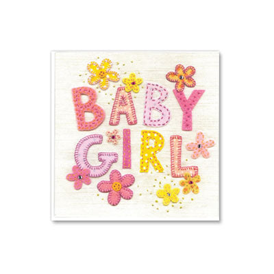 Greeting Card - Patchwork Baby Girl