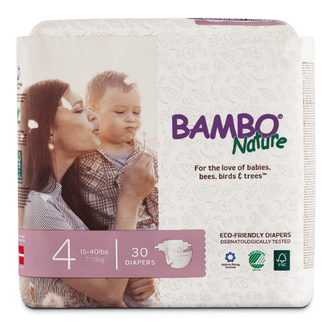 Bambo Nature Disposable Diapers - Size 4 - ECOBUNS BABY + CO.