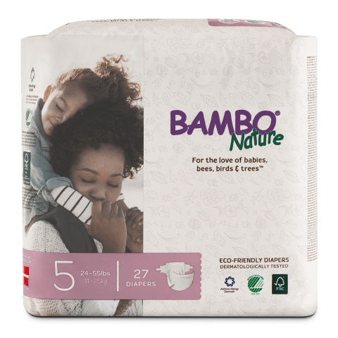 Bambo Nature Disposable Diapers - Size 5 - ECOBUNS BABY + CO.