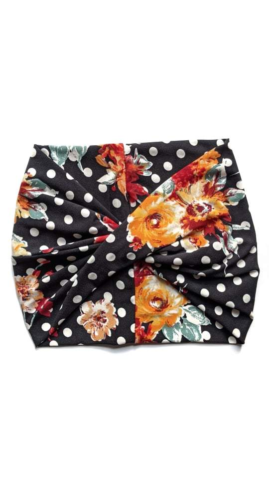 Crunchy Love Co. Twist Headband - Retro Floral