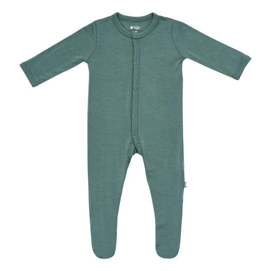 Kyte Baby Solid Footie - Pine
