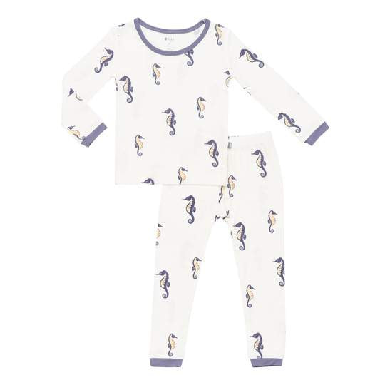 Kyte Long Sleeve Toddler Pajama Set - Sea Horse