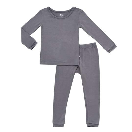 Kyte Long Sleeve Toddler Pajama Set - Charcoal