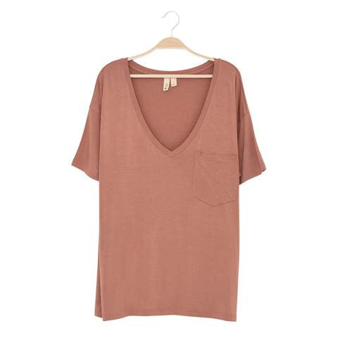 Kyte Women's V-Neck Shirt - Spice