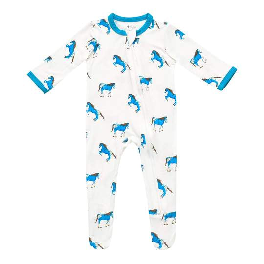 Kyte Baby Zippered Footie - Horse