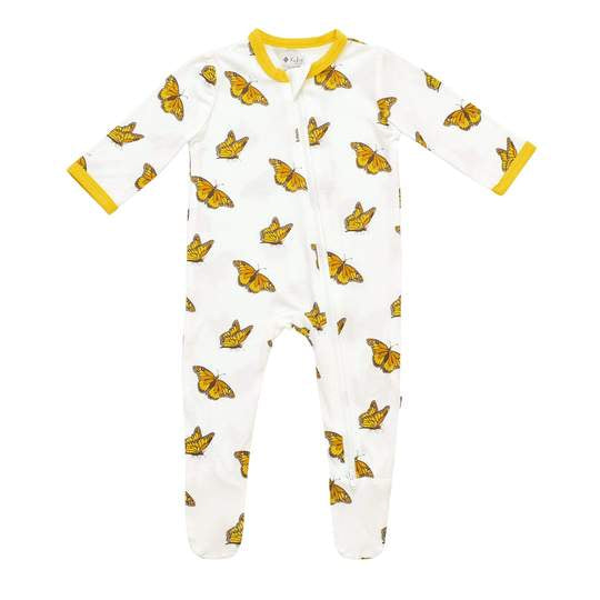 Kyte Baby Zippered Footie - Monarch