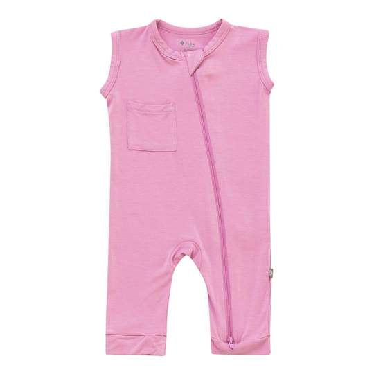 Kyte Baby Zippered Sleeveless Romper - Bubblegum