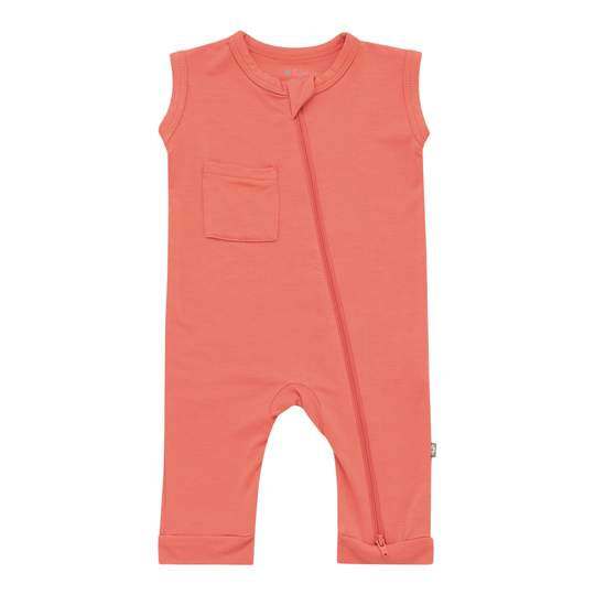 Kyte Baby Zippered Sleeveless Romper - Melon