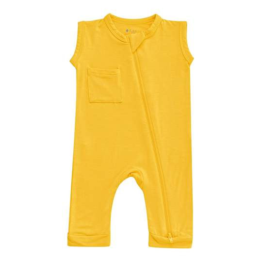 Kyte Baby Zippered Sleeveless Romper - Pineapple