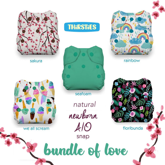 Thirsties Natural Newborn AIO Bundle - Bundle of Love