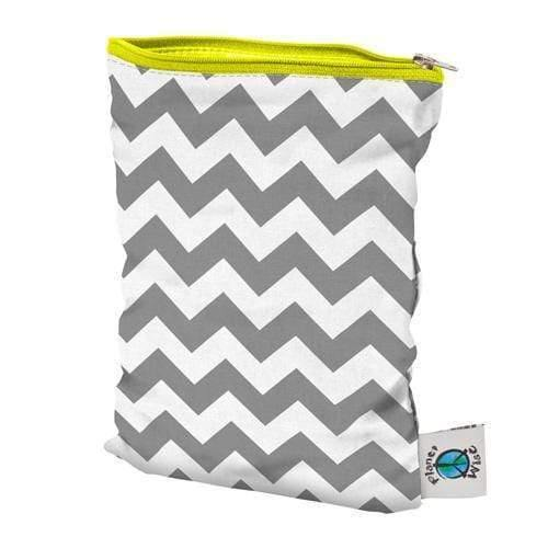Planet Wise Small Wet Bag - Gray Chevron