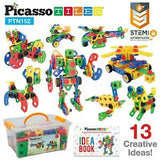PicassoTiles 152pc Engineering Construction Set