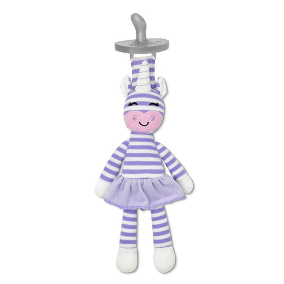 Organic Pacifier Buddy - Cupcake the Unicorn