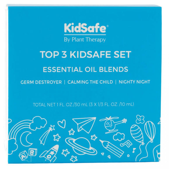 Plant Therapy - Top 3 KidSafe Set - 10ml Bottles