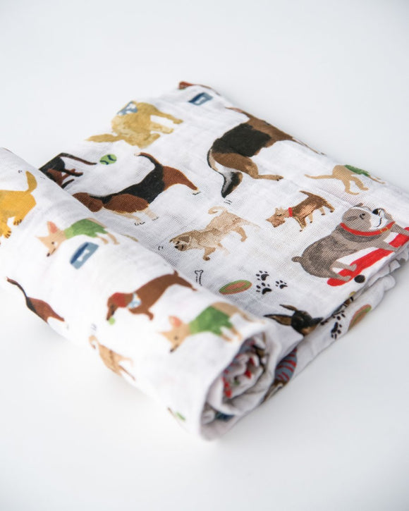 Little Unicorn Cotton Muslin Swaddle - Woof