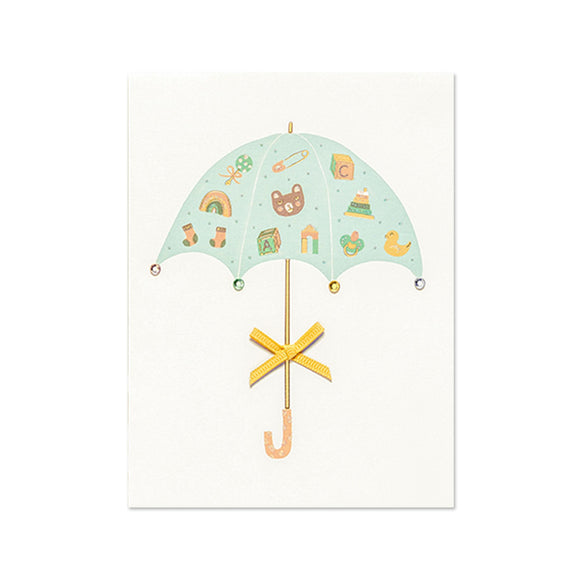 Greeting Card - Baby Shower - Umbrella