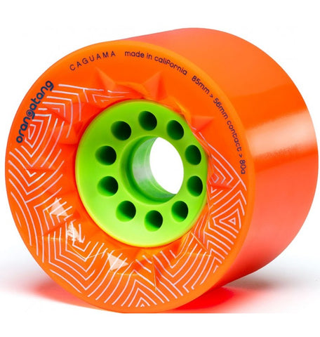 Orangatang Caguama Longboard Wheels 85mm 80a Orange
