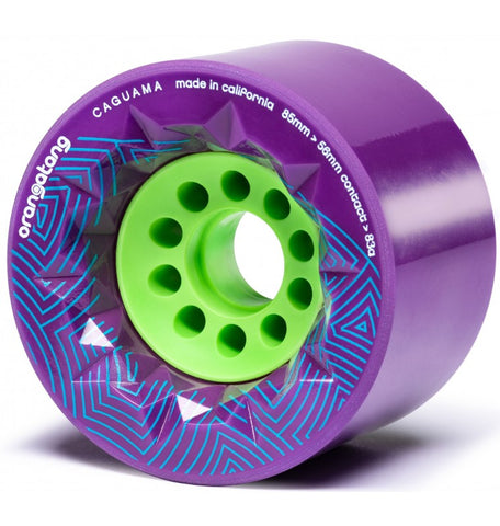 Orangatang Caguama Longboard Wheels 85mm 83a Purple