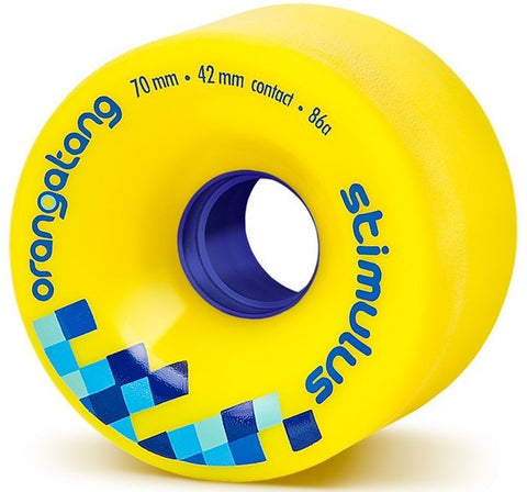 Orangatang Stimulus Longboard Wheels Yellow 70mm 86a