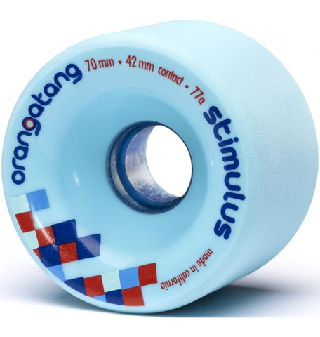 Orangatang Stimulus Longboard Wheels Blue 70mm 77a