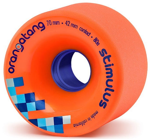 Orangatang Stimulus Longboard Wheels Orange 70mm 80a