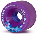 Orangatang Stimulus Longboard Wheels Purple 70mm 83a