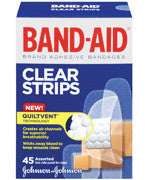 J&J BAND-AID CLEAR ASST 45'S - Queensborough Community Pharmacy