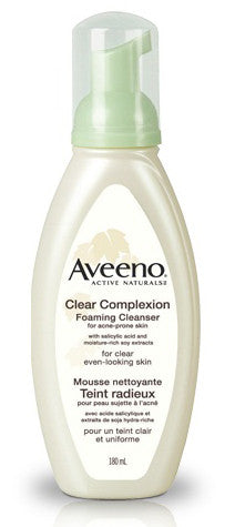AVEENO CLEAR COMPLEXION FOAMING CLEANSER 180ML - Queensborough Community Pharmacy