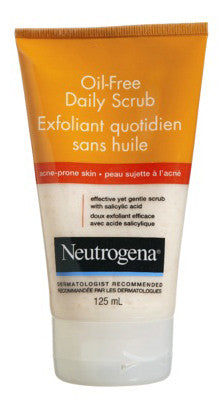 NEUTROGENA ACNE WASH O/F DAILY SCRUB 125ML - Queensborough Community Pharmacy