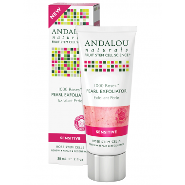 ANDALOU NATURALS 1000 ROSES PEARL EXFOLIATOR 58 ML - Queensborough Community Pharmacy