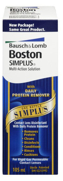 BOSTON SIMPLUS MULTI-ACTION SOLUTION 105ML - Queensborough Community Pharmacy